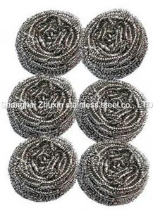 China 6pcs metal Round scourer for utensil galvanized Stainless Steel Cleaning Ball on sale