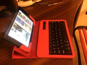 China 7  IPS  Quad Core Tablet PC With BT Keyboard For Kids / Adult on sale