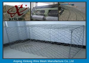 China Hot Dipped Gabion Rock Wall Cages , Reno Mattress & Gabion Basket Fence on sale