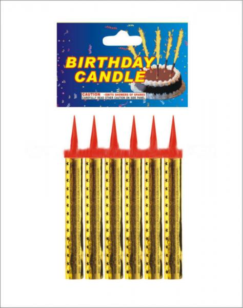 45s Gold Magic Ice Fountain Birthday Cake Fireworks Candle With CE Approvals Images