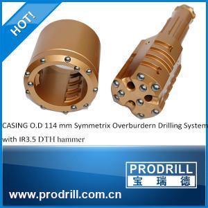 China DTH hammer DHD3.5 Symmetrix Overburdern Drilling System casing 114mm on sale