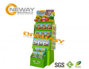 China Custom Advertising Pop Cardboard Display Stands With LCD Screen on sale