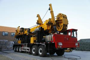 China Exploration Water Well Drilling Rig Truck Chassis Mounted , Auger CMD100 on sale