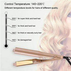 China Hair Straightener Irons, Automatic Release Negative Ions,2 in 1 Ceramic Styling Salon Tools Professional Hair Straighten on sale