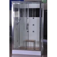 Luxury Massage Corner Shower Stalls , Rectangular  Shower Cabin with bamboo seat 1200x800x2150mm