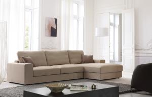 Quality Linen fabric modern sofa , High density foam fabric sofa for sale