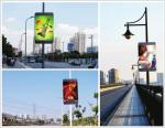 led pole screen P5 outdoor SMD RGB full color video board with 4G wireless system