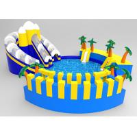 China Commercial PVC Blue Coconut Tree Inflatable Floating Water Park For Children on sale