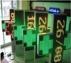 China IP65 P20 3D Outdoor Dual Color Led Pharmacy Display Signs with 1000 * 1000 mm Size on sale