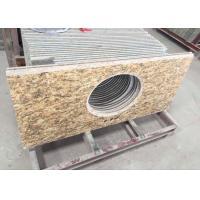 Polished Granite Vanity Countertops / Granite Slab Countertop With Sink Hole