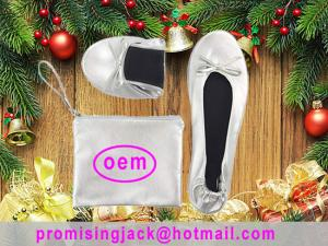 China White and Black Ballet Shoes for Christmas Promotion New Gift in a Bag with Best Price from China Factory on sale