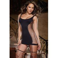 Sexy Lingerie Wholesale Fancy Fishnet Opaque Lingerie Dress Sexy Babydoll Lingerie Chemises wholesale from manufacturer