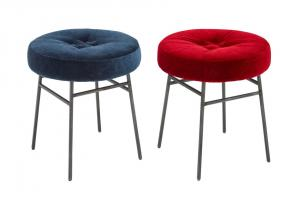 China Metal Ilot Counter Height Stools , Multi Colors Upholstered Dining Chairs on sale