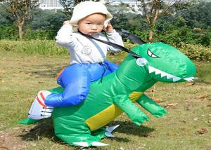 China Dinosaur Costume Suit Children'S Inflatable Garden Toys , Green / Yellow Inflatable Baby Toys on sale