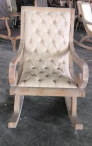 Quality Vintage French Style Wooden Rocking Chairs Classic Solid Wood  French Wing Chair For Sale