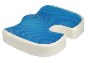 China Contoured Office Chair Cooling Gel Seat Cushion , Foam Seat Cushion on sale