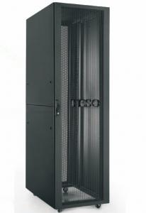 China RAL 9004 Vented Network Cabinet , 22U Home Network Rack Cabinet on sale