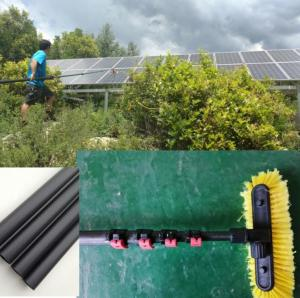 China Extend length 5.1 meter home service carbon fiber  solar panel cleaning pole on sale
