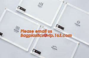 China hot selling cheap A4, A5, A6, B5 transparent plastic pe zip lock files bag /zip wallet with printing on sale