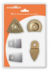 China 5 Piece Oscillating Tool Uni-Fit Tile Blades for Fein Multimaster, Bosch, Rigid on sale