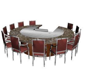 China 12 Seats Stainless Steel Circle Shape Circle Shape Japanese Teppanyaki Table on sale