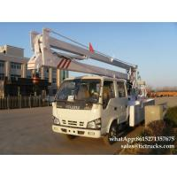 ISUZU aerial platform truck  14`18M   Folding Boom Japanese Aerial Platform Vehicle Customization  WhatsApp:861527135767