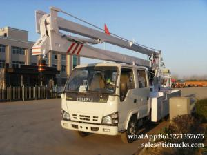 China ISUZU aerial platform truck  14`18M   Folding Boom Japanese Aerial Platform Vehicle Customization  WhatsApp:861527135767 supplier