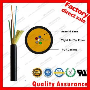 China 4 cores gyfju Black TPU Jacket Military Grade Fiber Optic Cable 1km For Video Transmitting Outdoor Compound Fiber Cable on sale