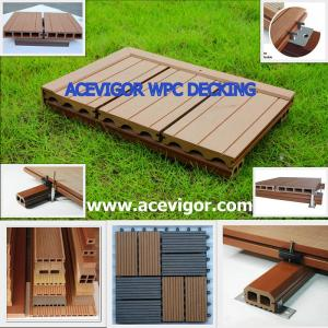 China WPC decking & tiles, WPC flooring, Wood Plastic Composite on sale