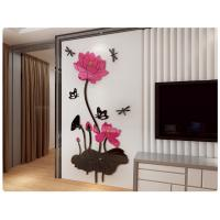 China Removable 3D Crystal Acrylic Flower   DIY Wall Sticker Decal Home Decor on sale