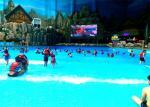 PLC Control Amusement Water Park Wave Pool For Surfing