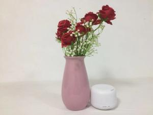 China Professional House Ultrasonic Essential Oil Diffuser / Pink Electric Air Freshener For Home supplier