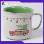 Stone ware Coffee mug sets 550ml ceramic cups hand painted Imitation enamel mug  Can be customized
