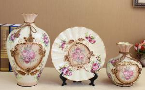 China European style ceramic vase decor 3 items on sale