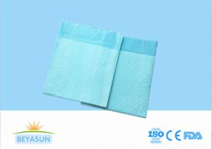 China Disposable Incontinence Bed Pads / Breathable Blue Hospital Bed Pads on sale