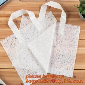 China eco-friendly biodegradable compostable Soft Loop Handle Shopping Garment Recycle Pe Bag,Handle Plastic Bag OEM Plastic B on sale