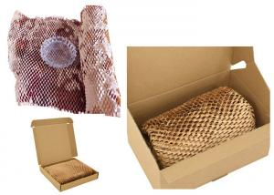 China 250m Honeycomb Paper Bubble Wrap 1.5inch Core Hive Paper Wrapping Rolls on sale