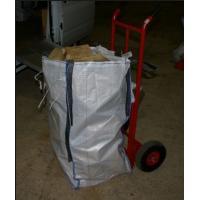 China Os sacos maiorias industriais da tela do carrinho de mão, madeira granulam o saco grande do painel de U com 4 laços on sale