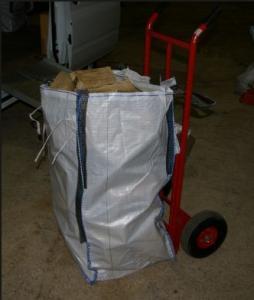 China Les sacs en vrac industriels de tissu de brouette, bois granule sac de panneau d'U le grand avec 4 boucles on sale