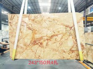 China Surface Finishing calacatta gold porcelain slab , marble table top slab wholesale