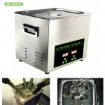 200W 10l Ultrasonic Digital Cleaner Tabletop For Automotive Parts Motor Engine