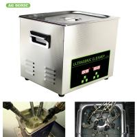 China 200W 10l Ultrasonic Digital Cleaner Tabletop For Automotive Parts Motor Engine on sale