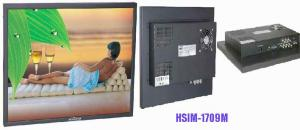 China Anti glare 3D definition 2 BNC 70Hz HSIM - 1709M secam 17'' Professional CCTV Monitor on sale