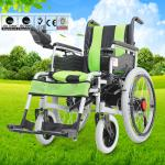 Disabled Electric Wheelchair , Compact Motorized Wheelchair For Old Person