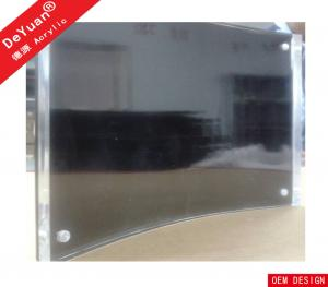 China OEM Acrylic Magnetic Photo Frame / Acrylic Curved Black Picture Frame on sale