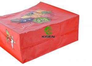 China Lightweight Polypropylene Reusable Grocery Bag , Folded Plastic Woven Shopping Bag on sale