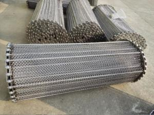 China Stainless Steel Wire Conveyor Belts Acid Proof For Meat / Tortilla Processing on sale