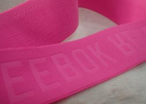 China Embossed 3D Raised Name Logo Patches Adhesive Hook And Loop Tape For Sportswear on sale
