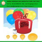 Tanque do hélio do balão