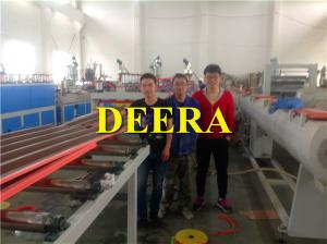 China 190kw Plastic Sheet Extrusion Machine , PVC Hollow Corrugated Roofing Sheet Making Machine on sale